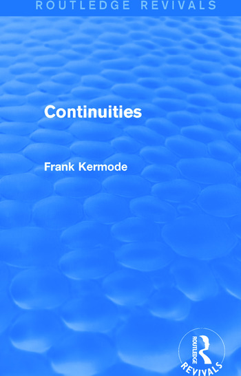 Continuities (Routledge Revivals) book cover