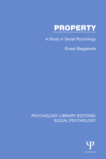Property A Study in Social Psychology book cover