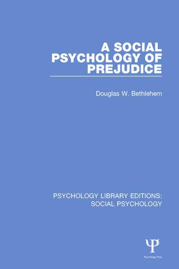 A Social Psychology of Prejudice book cover