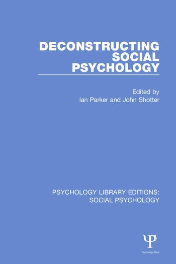 Deconstructing Social Psychology book cover