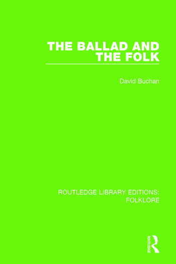 The Ballad and the Folk Pbdirect book cover
