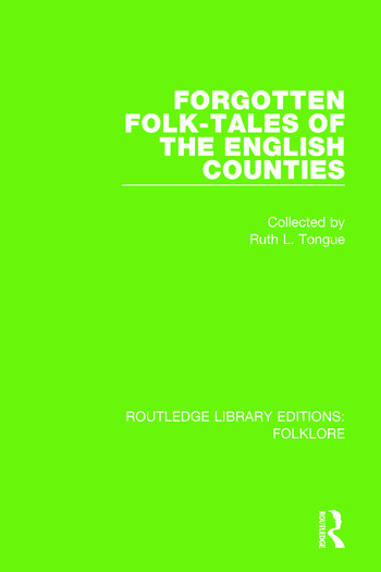 Forgotten Folk-tales of the English Counties Pbdirect book cover
