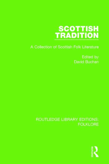 Scottish Tradition Pbdirect A Collection of Scottish Folk Literature book cover