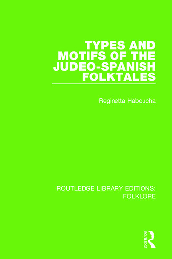 Types and Motifs of the Judeo-Spanish Folktales Pbdirect book cover