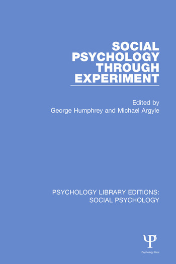 Social Psychology Through Experiment book cover