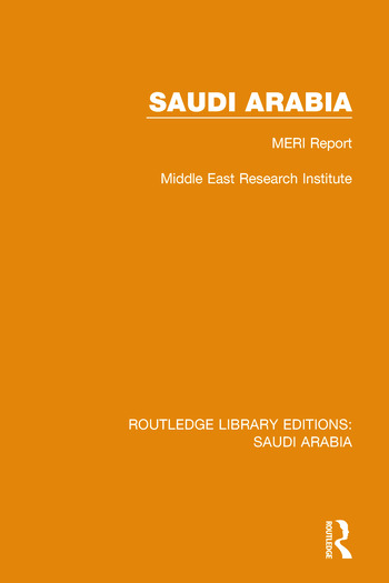 Saudi Arabia Pbdirect MERI Report book cover