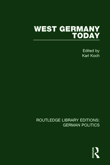 West Germany Today (RLE: German Politics) book cover