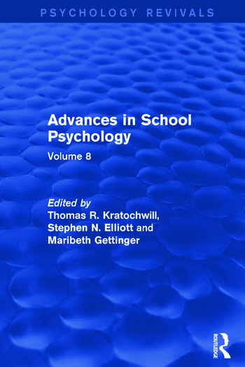 Advances in School Psychology Volume 8 book cover