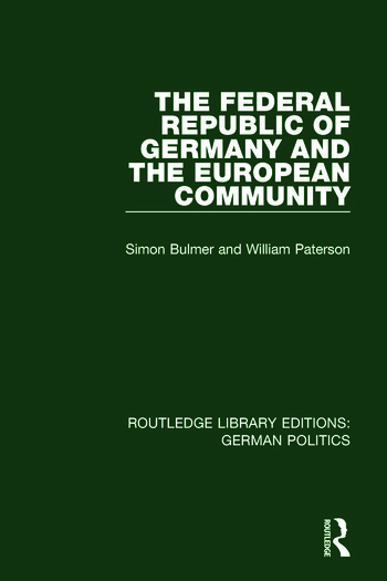 The Federal Republic of Germany and the European Community (RLE: German Politics) book cover