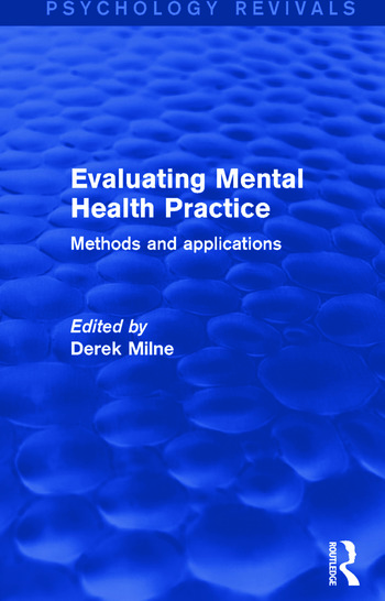 Evaluating Mental Health Practice Methods and Applications book cover