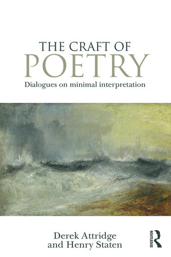 The Craft of Poetry Dialogues on Minimal Interpretation book cover