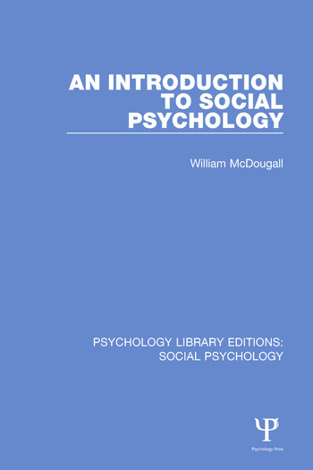 An Introduction to Social Psychology book cover