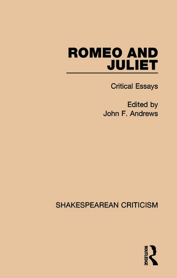 Romeo and Juliet Critical Essays book cover
