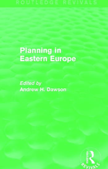 Planning in Eastern Europe (Routledge Revivals) book cover