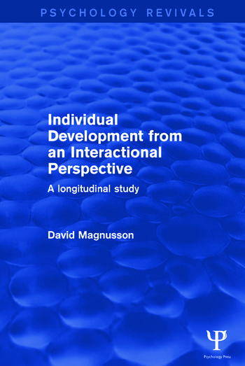 Individual Development from an Interactional Perspective A Longitudinal Study book cover