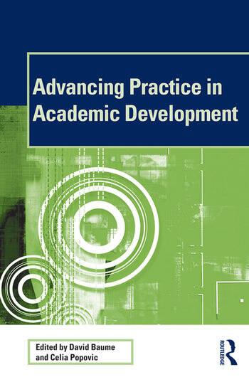 Advancing Practice in Academic Development book cover
