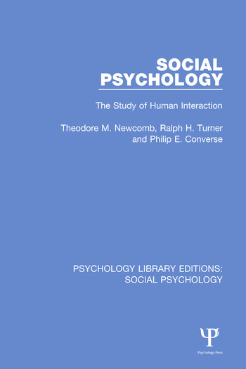 Social Psychology The Study of Human Interaction book cover