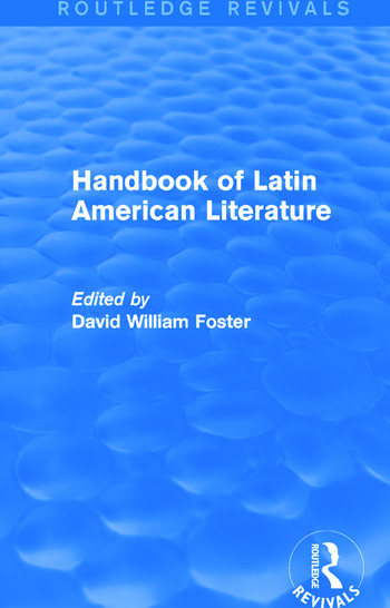 Handbook of Latin American Literature (Routledge Revivals) book cover