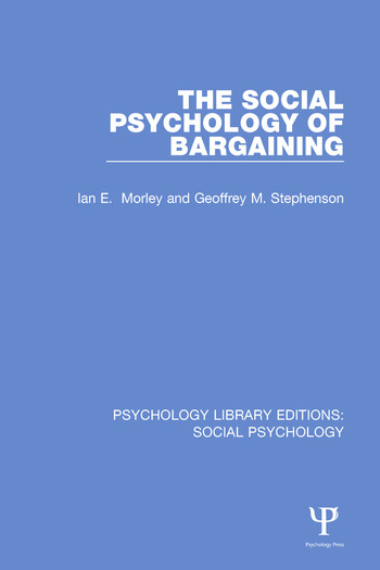 The Social Psychology of Bargaining book cover