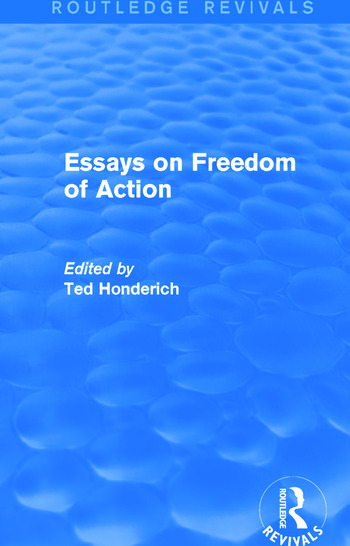 Essays on Freedom of Action (Routledge Revivals) book cover