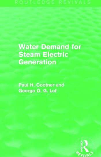 Water Demand for Steam Electric Generation (Routledge Revivals) book cover