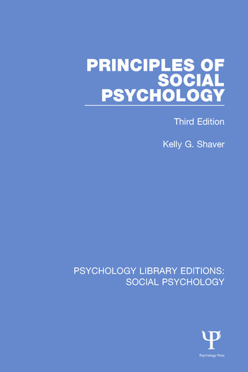 Principles of Social Psychology Third Edition book cover