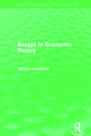 Essays in Economic Theory (Routledge Revivals) book cover
