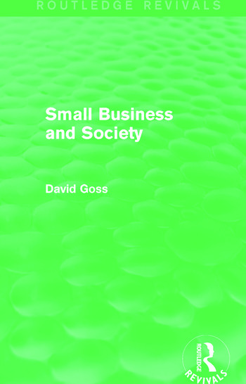 Small Business and Society (Routledge Revivals) book cover