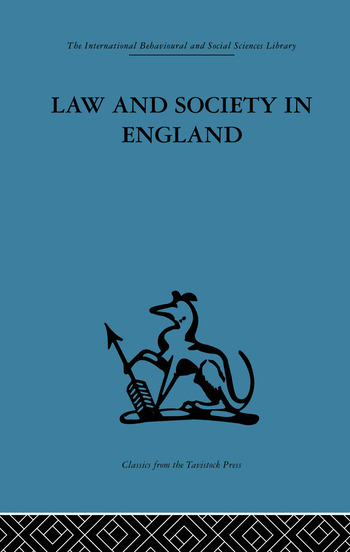 Law and Society in England book cover