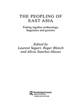 The Peopling of East Asia Putting Together Archaeology, Linguistics and Genetics book cover