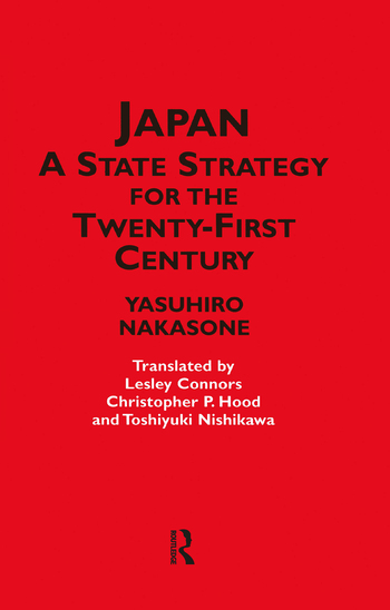 Japan - A State Strategy for the Twenty-First Century book cover