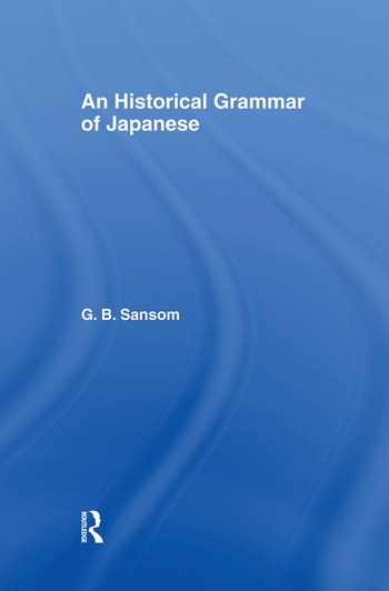 Historical Grammar of Japanese book cover