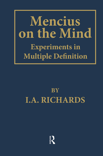 Mencius on the Mind Experiments in Multiple Definition book cover