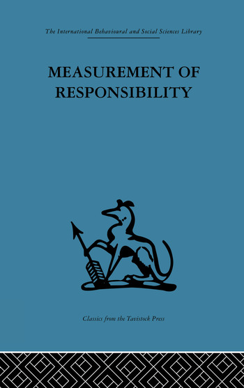 Measurement of Responsibility A study of work, payment, and individual capacity book cover