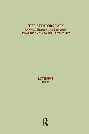 Auditor's Talk An Oral History of the Profession from the 1920s to the Present Day book cover