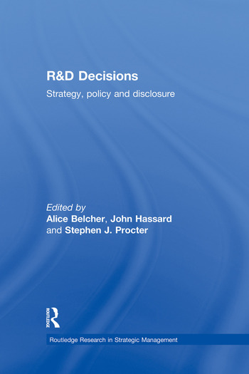 R&D Decisions Strategy Policy and Innovations book cover