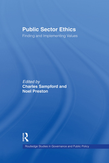 Public Sector Ethics Finding and Implementing Values book cover