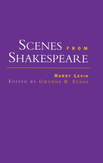 Scenes from Shakespeare book cover