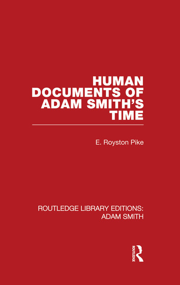Human Documents of Adam Smith's Time book cover