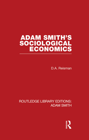 Adam Smith's Sociological Economics book cover