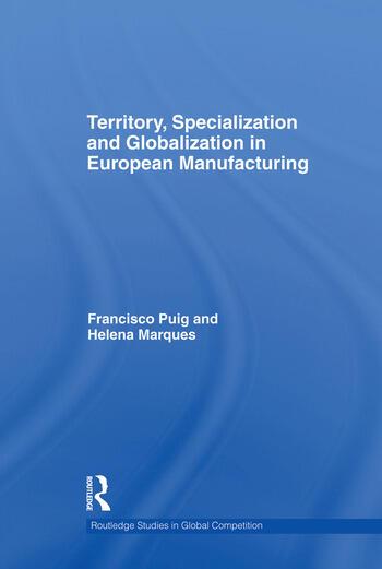 Territory, specialization and globalization in European Manufacturing book cover