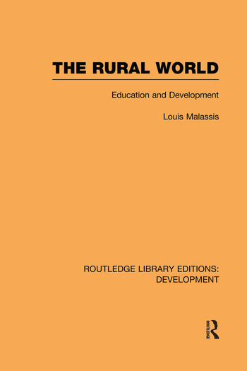 The Rural World Education and Development book cover