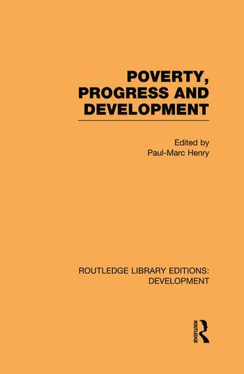 Poverty, Progress and Development book cover