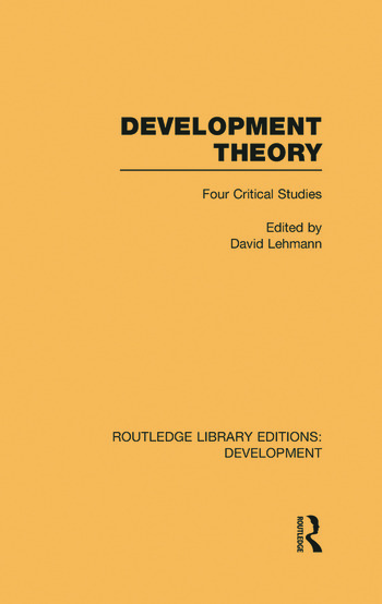 Development Theory Four Critical Studies book cover
