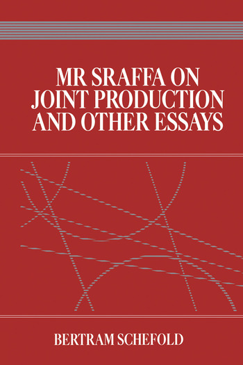 Mr Sraffa on Joint Production and Other Essays book cover