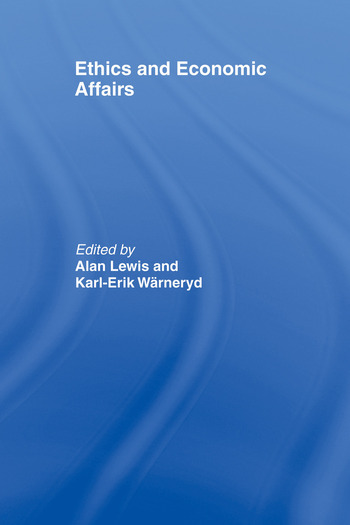 Ethics and Economic Affairs book cover