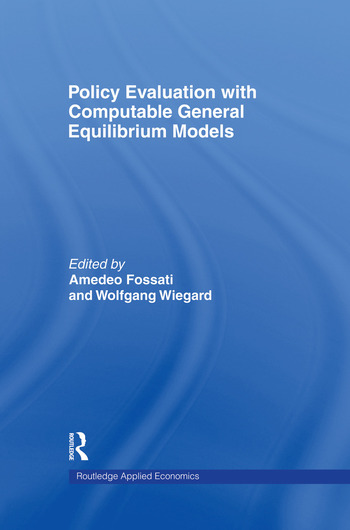 Policy Evaluation with Computable General Equilibrium Models book cover