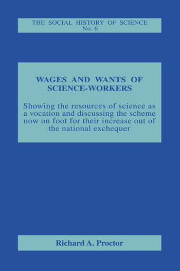 Wages and Wants of Science Work book cover