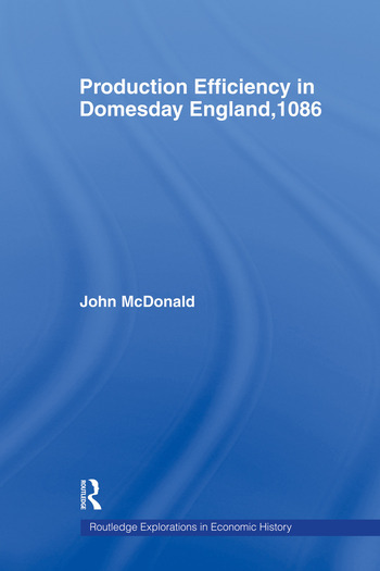 Production Efficiency in Domesday England, 1086 book cover
