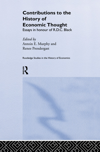 Contributions to the History of Economic Thought Essays in Honour of R.D.C. Black book cover